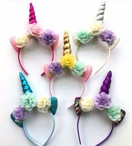 2019 Блеск Металлические Повязка Для Девочек Шифон Цветы Hairband Для Детей Leaf Flower Party Аксессуары