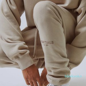 20 SS FOG Fear Of God Letter Embroidery High Street Sweatpants 3M Reflective Vintage Color Fashion Sport Outdoor Fitness