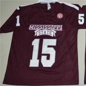Benutzerdefinierte Mississippi State Bulldogs 15 Dak Prescott Mens Womens Kids College Football Trikots Stickerei Outdoor Bekleidung Trikots