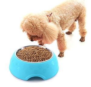 Будки Stainles фидера стал собакой миски еды и воды собаки шар три конфеты цвета большого размера небьющегося