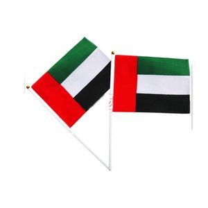 14x21cm UAE bandierina della mano con Plastic Polo poliestere, tutti i paesi, all'aperto Uso dell'interno, trasporto di goccia