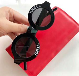 أسود أبيض جولة sungalsses خمر نظارات الشمس دائرة للجنسين الأزياء ظلال النظارات الشمسية الجديدة