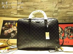 100% echtes Leder-Aktentasche Designer-Männer Beutel-Qualitäts-Mann-Tasche Berühmte Markemens-Schulter-Beutel-Computerbeutel 41 * 34 * 6cm Handtasche