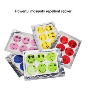 DHL Livraison! 6000 PCS (1 jeu = 6 pcs) Anti Mosquito Patch autocollant Citronnelle de tueur de moustique sourire face anti-moustique