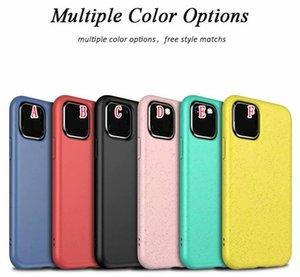 Биоразлагаемый мягкий чехол для IPhone 11 Pro Max XR X XS 8 7 6 Plus 6S Samsung S20 Ultra S10 S10E NOTE 10 Компостируемая экологичная крышка