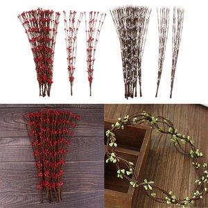 200pcs 16inch artificielle Pastel Pip Berry Gerbes printemps Pip Berry Picks Tiges pour Pâques Crafts arrangement floral prise de guirlande