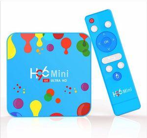 1 Adet H96 Mini Android 9.0 TV Box Allwinner H6 Dört Çekirdek 4GB 32GB 6K Wifi BULETOOTH tarihinde Oyuncu Youtube Seti üstü kutusu