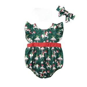 Enfant nouveau-né Vêtements de bébé fille manches Romper Jumpsuit Vêtements XMAS Tenues 0-24M / PAR