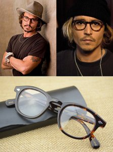 Receta las mujeres del hombre marca de gafas Jonny profundo Moscot Lemtosh óptico del acetato de Italia Hombres retro óptico de las lentes del marco Gafas