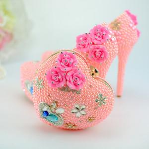 Fairy2019 Hochhackige Damenschuhe Love Pericardium Pink Farbe Princess Suit Geschenk Besonders Bankett Schuh Paket Set Mahlzeit