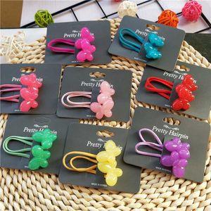 1PCS New Bubble Heart Butterfly Children Hair Ropes Elastic Rubber Hair Band Baby Headwear Kids Headdress Girls Accessories