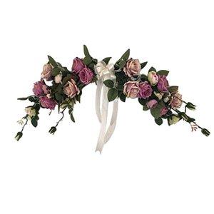2019 belleza Peonie Rosas Flores clásico artificiales para la boda del ornamento de la puerta decoración del hogar Jardín Jardín