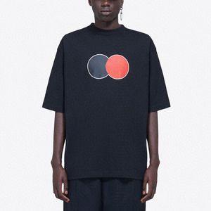 20SS clásico del logotipo impreso letra camiseta de los hombres de las mujeres ocasional simple camiseta floja de gama alta High Street verano de manga corta camiseta de la moda HFYMTX814