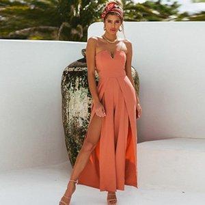 Solide gerade Riemen Sling One-Shoulder-Neckholder Hosen Frauen Casual Breathable Taille Big Horn High Waist Elegant Jumpsuit