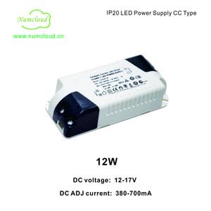 CC 380-700mA 12-27V 12W Светодиодный источник питания IP20