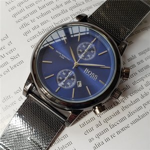 LU 2020 мужские часы топ бренд класса люкс Big-BOSS часы мода повседневная стальная сетка мужчины кварцевые часы Часы мужчины Relogio Masculino Drop Shipping