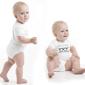 ملابس الأطفال حديثي الولادة ... ... Unisex Rompers ... ... Baby Girl Short Sleeum Romper Letter Printed Jumpweat ...