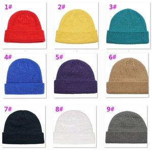 Beanie chapéus Tampão de lãs chapéu de lãs malha de malha de malha cânera de quadril hip hop de malha casual azul marinho cinzento preto mistura mulheres vintage chapéus xmas xd22805 vpji