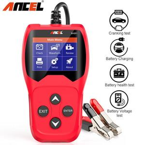 Ancel BA201 voiture analyseur testeur de batterie batterie de voiture 12V PK KW600 12 volts Outils de diagnostic 100-2000CCA pour le test de charge