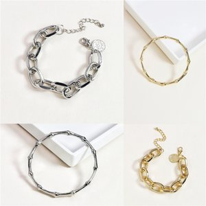 New Geometric Round Real Freshwater Pearl Bracelet For Women Charm Gold Color Alloy Heart Shaped Pendants Bangles Female Jewelry#418