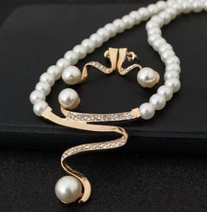 3set / sürü moda high-end Kristal Elmas gelin takı bayan seti kolye kolye Küpe lüks hediye ücretsiz kargo 5.8yy