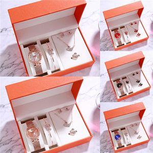 Gorgeous Small Bangle Bracelet Luxury Watches With Rhinestones Silver Gold Band Retro Ladies Quartz Wristwatches Set For Women 2 Colors 1#681