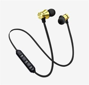 XT11 Bluetooth Casque sans fil magnétique Courir Sport écouteurs casque BT 4.2 avec micro Oreillettes MP3 Pour IOS Android