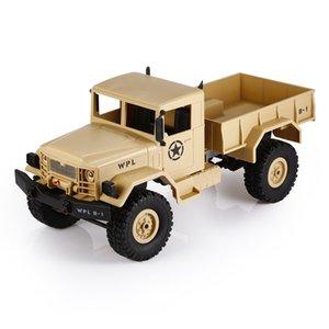 WPL B - 1 1:16 Mini Camion militaire hors route RC RTR à quatre roues motrices Suspension en métal Rayon lumineux LED Lumière RC Voitures Jouets