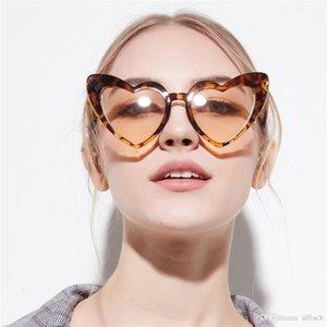 red white heart shaped sunglasses 2019 new women brand designer black shades heart leopard glasses sun love style ladies eyewear