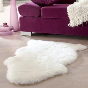 Super Soft Faux Sheepskin waschbare Teppich Warm Hairy Sitzkissen Fluffy Teppiche aus Kunstpelz-Matten für Boden Stühle Sofas Kissen 60x40cm