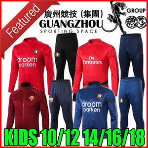 2019 2020 enfants ROMA Survêtement veste rouge 19 20 ARSEN Feyenoord chandal Survetement enfant sportswear ninos chemises de formation