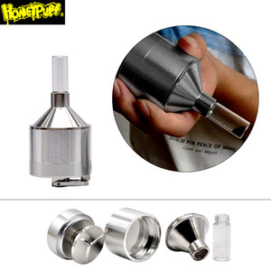 44/56 mm de aleación de zinc amoladora de la hierba Para tabaco del metal de la especia de prensa Trituradora de vaporizador de metal fumadores Botella amoladora con el vidrio Tabaco