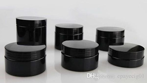 vaso cosmetico nero contenitore in plastica 30ml 50ml 80ml 100ml ampio contenitore per la bocca 100g 80g 50g 30g logo personalizzato