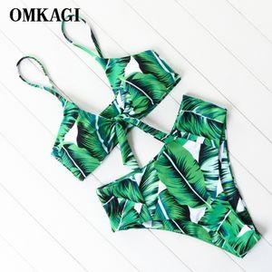 OMKAGI Bikini 2019 Bikini taille haute Mujer maillot de bain Biquini Maillot De Bain Femme Maillot de Bain Vente Beachwear Hot Maillots de bain Femme