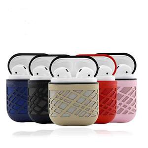 Für apple airpod pu ledertasche mit anti-staub stecker schlüsselanhänger stoßfest weiche silikonhülle für bluetooth kopfhörer headset