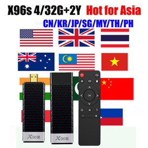 4GB 32GB Mini TV Stick X96S Android 9.0 mini PC for Chinese Japanese Korean Singapore Malaysia HongKong TaiWan Vietnam set-top box android