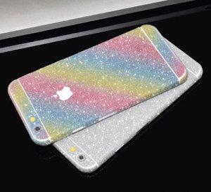 NEW GOOD Luxurious Full Body Bling Diamond shiny Glitter Rainbow Front Back Sides Skin Sticker cover For 6 6G 6p 7 7plus X XR 11promax