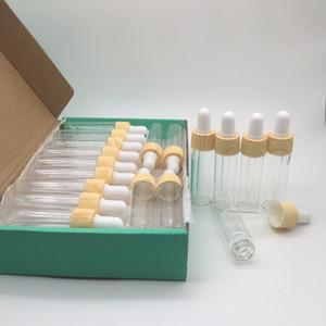 15ml mini-vidro conta-gotas frascos de óleos Garrafas fundamentos frasco de perfume Frascos Loção Líquido recipiente e Pacote de 26