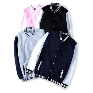VAGROVSY 2019 giacca invernale di baseball Donne Uomini universitario sportivo in pile Giacche Felpa Slim Fit Giacca Mens Solid