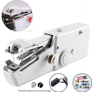 Tragbare Mini-Hand-Nähmaschine Haushalt drahtloser elektrischer Stich & Sticken Set für schnelle Reparaturen DIY Kleidung Stitchin