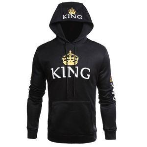 Sweety Roi Reine Printed Sweats à capuche Femmes Hommes Sweat à capuche Lovers Couples Sweat Hoodies overs Casual
