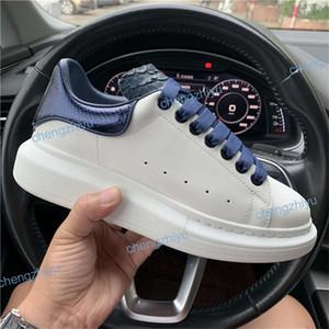 Zapatos de diseño de moda de lujo zapatillas de cuero para hombres, mujeres, de alta calidad, 3M reflectantes, blancos, zapatos de plataforma que aumentan la altura para caminar.