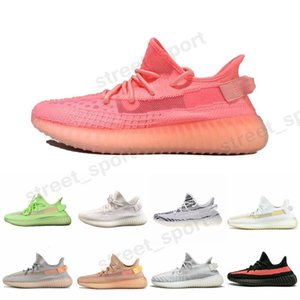 ssYEzZYYEzZYs v2 350boost Kanye West GID Glow in the Dark Pink V2 Running Shoes Mens Women Trainers Hyperspace Clay True For