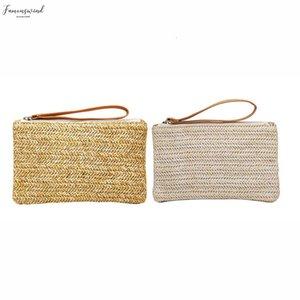 Middle Aged Versatile Purse Fashion Cross Body Women Fashion Summer Style Handbag Bucket Shape Solid Weaving Bag 528