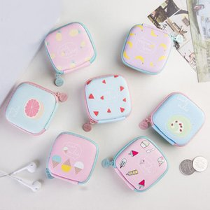 Storage Summer Mini Lovely Fruit Ice Cream Key Box Round Coin Case Purse Earphone For SD TF Headphone Bag Cards Forur