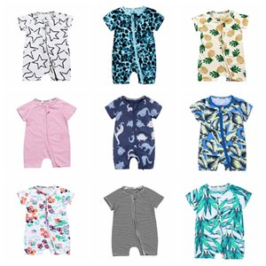 34 styles INS new summer forest leaves infant cotton baby newborn print jumpers toddler jumpersuit kids child lovely jumpers