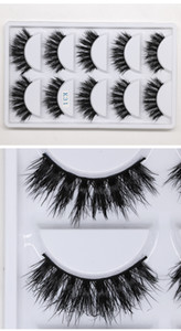 2019 MINK eyelashes 6 styles 5pair lot 3D False Eyelash Long Individual Mink Lashes Extension Makeup