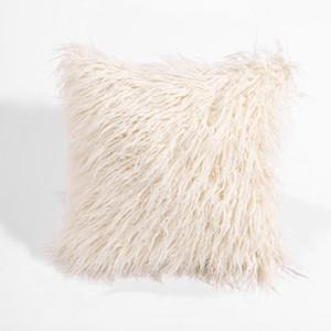 18 '' vendita calda Peluche molle eccellente Faux Fur vello di tiro del cuscino casi della copertura Copricuscino Piazza Home tela del cotone