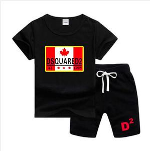 Новой весна девушка мальчика футболки Брюки дамского костюма Kids Детский 2pcs Хлопок Одежда Наборы 2-7 Возраст Дети Set
