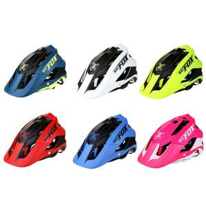 خوذة دراجة ركوب الدراجات الجبلية من قطعة واحدة سلامة ركوب خوذة الرياضة 6 ألوان خوذة- F-659